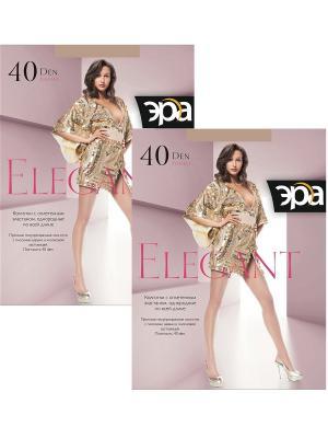 Колготки Elegant 40, 2 пары ЭРА.. Цвет: бронзовый