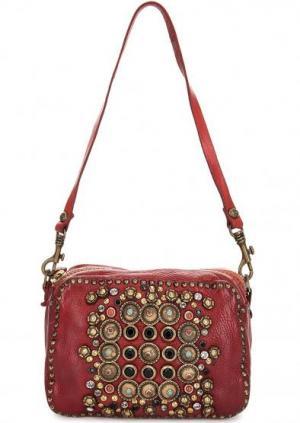Маленькая сумка через плечо Campomaggi. Цвет: красный