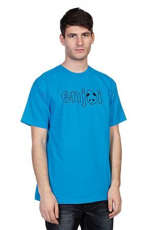 Футболка  Headvetica Turquoise Enjoi. Цвет: синий