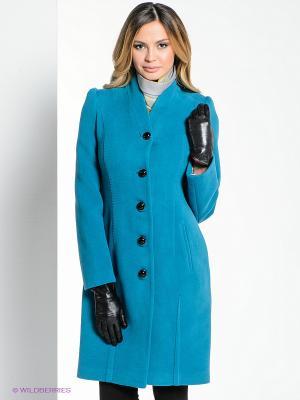 Пальто Klimini. Цвет: бирюзовый