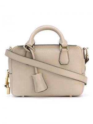 Маленькая сумка-тоут Smythson. Цвет: серый
