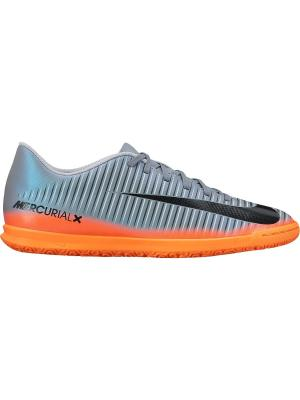 Бутсы MERCURIALX VORTEX III CR7 IC Nike. Цвет: серый, оранжевый, черный