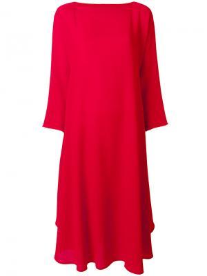 Свободное платье с вырезом-лодочкой Daniela Gregis. Цвет: красный