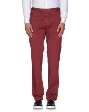 Повседневные брюки SARTORE. Цвет: красно-коричневый