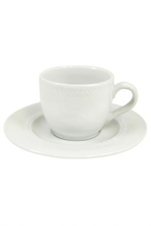 Мокко чашка с блюдцем KAHLA. Цвет: белый