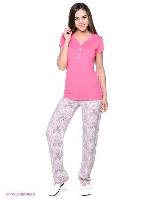 Пижама Vis-a-vis. Цвет: розовый, белый, серый