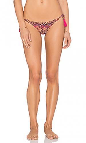Плавки бикини с длинными завязками по бокам SOFIA by ViX. Цвет: оранжевый