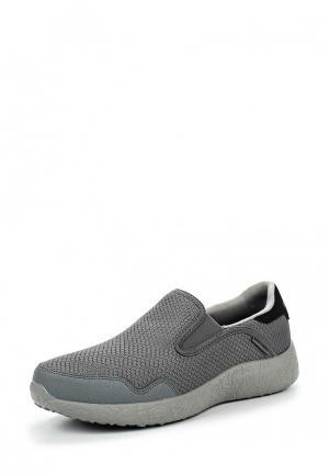 Слипоны Skechers. Цвет: серый