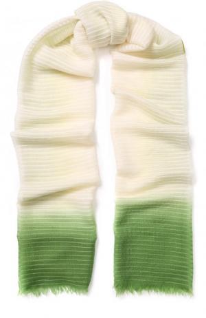 Палантин из смеси кашемира и шелка Colombo. Цвет: зеленый