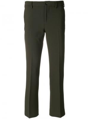 Укороченные классические брюки Pt01. Цвет: зелёный