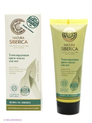 Крем-маска для ног Natura Siberica. Цвет: зеленый