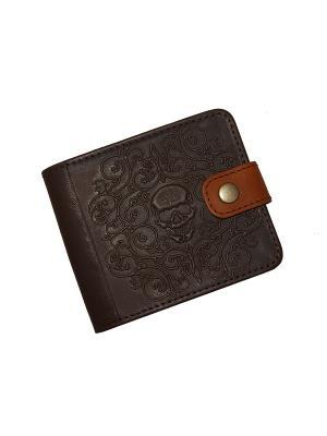 Портмоне с RFID защитой - против краж Кажан. Цвет: темно-коричневый