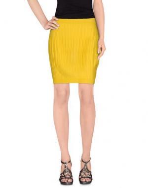 Юбка до колена NEERA. Цвет: желтый