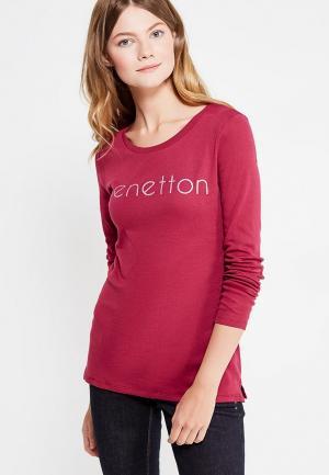 Лонгслив United Colors of Benetton. Цвет: бордовый