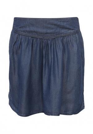 Юбка джинсовая Piazza Italia. Цвет: синий