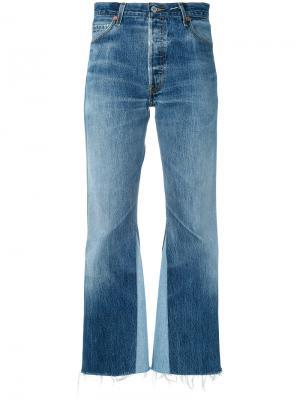 Прямые джинсы Re/Done. Цвет: синий