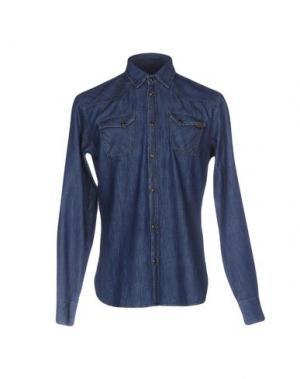 Джинсовая рубашка TRUSSARDI JEANS. Цвет: синий