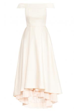 Платье из искусственного шелка 167885 Paola Morena. Цвет: бежевый