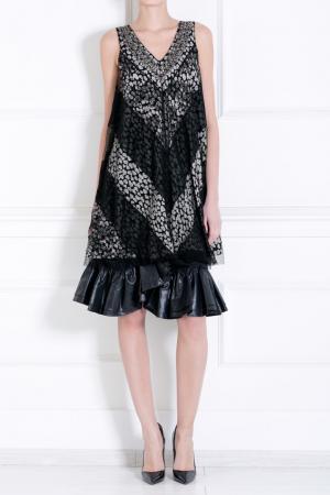 Шерстяная юбка Ruffian. Цвет: черный