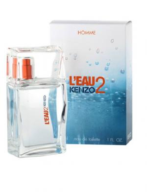 Leau 2 men edt 30 ml KENZO. Цвет: белый, голубой, оранжевый