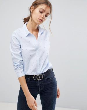 Esprit Рубашка с принтом. Цвет: розовый