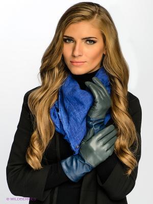 Перчатки MICHEL KATANA`. Цвет: серо-зеленый, синий