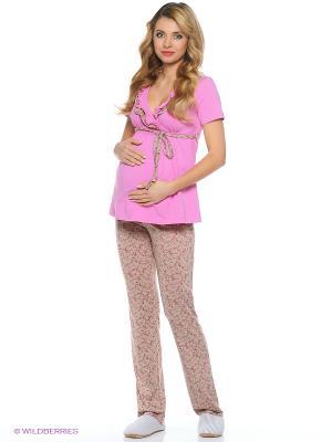 Комплект одежды д/б и кормящих Hunny Mammy. Цвет: розовый, бежевый