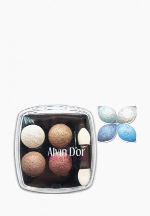 Тени для век Alvin Dor D'or. Цвет: голубой