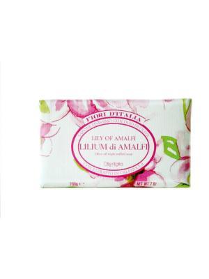 Натуральное косметическое мыло с оливковым маслом, аромат ЛИЛИЯ АМАЛЬФИ Iteritalia. Цвет: розовый