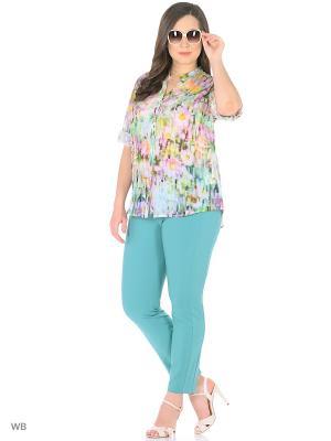 Блуза SOMMERMANN. Цвет: светло-зеленый, сиреневый