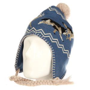 Шапка ушанка  Hunt Beanie Blue Ashbury. Цвет: синий,бежевый