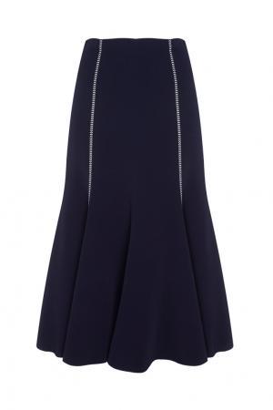 Однотонная юбка Natasha Gabriela Hearst. Цвет: синий