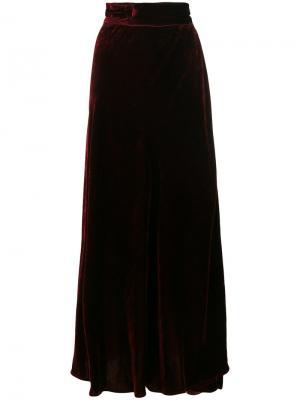 Длинная бархатная юбка Wandering. Цвет: розовый и фиолетовый
