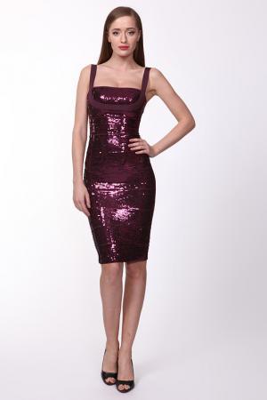 Платье Herve Leger. Цвет: фиолетовый