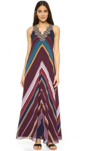 Макси-платье Ziggurat Twelfth St. by Cynthia Vincent. Цвет: голубой