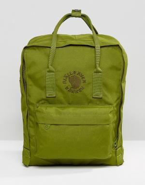 Fjallraven Зеленый рюкзак Re-Kanken, 16 л. Цвет: зеленый