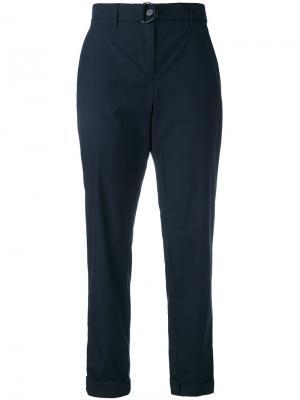 Укороченные брюки Akris Punto. Цвет: синий