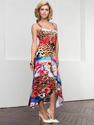 Платье МадаМ Т. Цвет: красный, желтый, синий