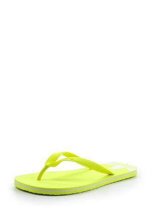 Сланцы adidas Originals. Цвет: желтый
