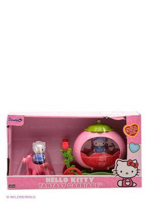 Набор Карета с драконом Hello Kitty. Цвет: розовый
