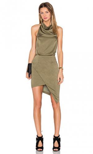 Мини платье camo ELLIATT. Цвет: зеленый