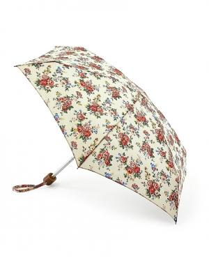 Зонт механический Кремовые розы  by Fulton Cath Kidston. Цвет: белый