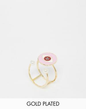 Eyland Кольцо на мизинец. Цвет: золотой