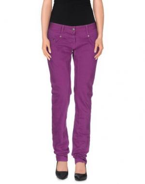 Повседневные брюки DANIELE ALESSANDRINI. Цвет: розовато-лиловый