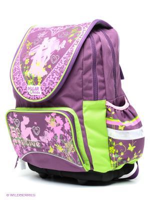 Рюкзак Polar. Цвет: фиолетовый, салатовый