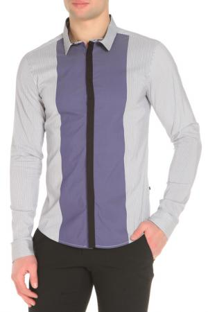Рубашка CNC COSTUME NATIONAL C'N'C'. Цвет: голубой