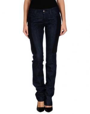 Джинсовые брюки CHIRIBIRI. Цвет: синий