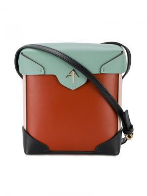 Мини сумка на плечо Pristine Manu Atelier. Цвет: красный