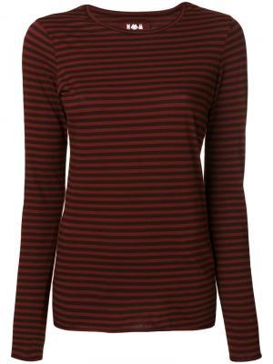 Striped round neck top Labo Art. Цвет: красный