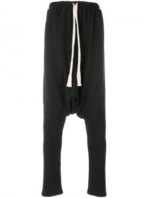 Спортивные брюки с заниженной проймой Alchemy. Цвет: чёрный